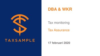Gratis direct te downloaden flyer over tax monitoring DBA & WKR